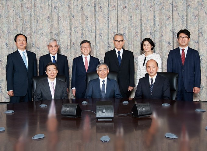 A group photo of the Bank's Policy Board members