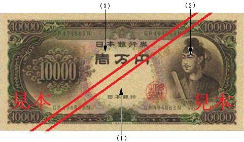 10,000 yen Note : front