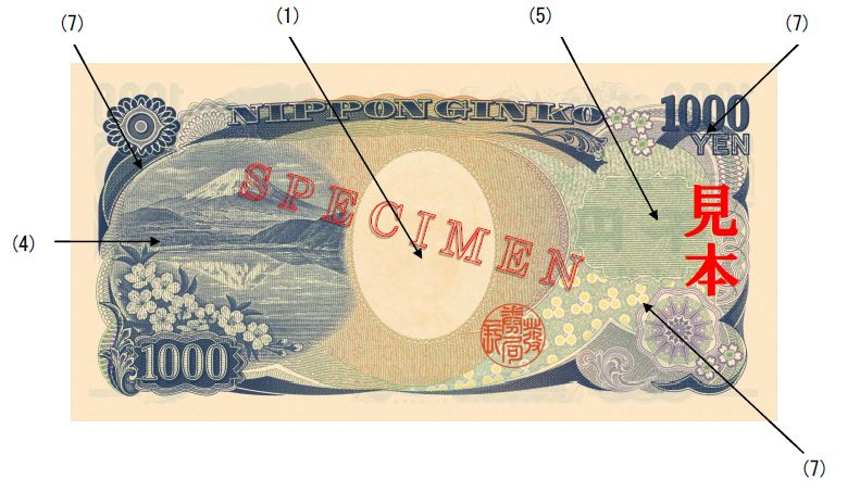 image of the back of a 1,000 yen note