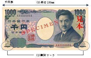 触ってわかる」日本銀行券の券種...